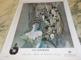 ANCIENNE PUBLICITE PARFUM D ORSAY LE DANDY-  1942 - Perfume & Beauty