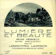 Lumière Et Beauté N° 7 - 1932 : Auvergne Par Arlaud - Auvergne