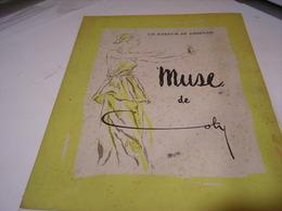 ANCIENNE PUBLICITE PARFUM LA MUSE  DE COTY  1942 - Perfume & Beauty