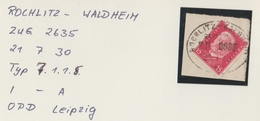 """3 075 Briefstück Bahnpost """"ROCHLITZ-WALDHEIM"""" 1930 - Allemagne"""