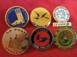 Lot De 6 Pin's La Poste - Pin's