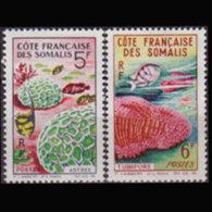 SOMALI COAST 1963 - Scott# 298-9 Corals Set Of 2 MNH - Côte Française Des Somalis (1894-1967)