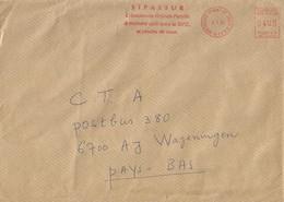 "Cote D'Ivoire Ivory Coast 2000 Bouake 01 Post Office Meter Secap ""NE"" 93899 Insurance Slogan EMA Cover - Ivoorkust (1960-...)"