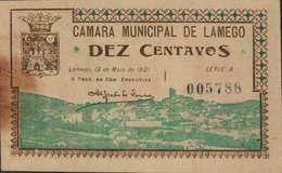 CÉDULA DE 10 CENTAVOS 12 DE MAIO DE 1921-SÉRIE A 005788 - Portugal