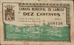 CÉDULA DE 10 CENTAVOS 12 DE MAIO DE 1921-SÉRIE F 000116 - Portugal