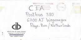 "Cote D'Ivoire Ivory Coast 2000 Gagnoa Post Office Meter Secap ""NE"" 94333 Western Union Money Transfer Slogan EMA Cover - Ivoorkust (1960-...)"