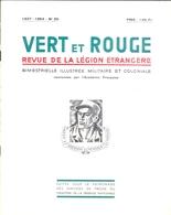 """REVUE DE LA LEGION ETRANGERE - """"VERT & ROUGE"""" - N° 95 - 1937-1954 - CINQUANTE PAGES AVEC ARTICLES, PHOTOS, ILLUSTRATIONS - Revues & Journaux"""