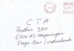 "Cote D'Ivoire Ivory Coast 2000 Man Post Office Meter Secap ""NE"" 94334 EMA Cover - Ivoorkust (1960-...)"