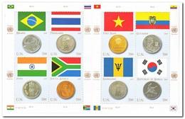 New York 2007, Postfris MNH, Flags, Coins - New York - Hoofdkwartier Van De VN