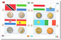 Wenen 2007, Postfris MNH, Flags, Coins - Wenen - Kantoor Van De Verenigde Naties