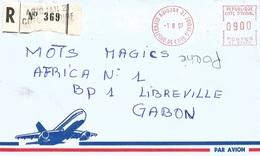 "Cote D'Ivoire Ivory Coast 1997 Abidjan 21 Post Office Meter Secap ""NE"" 93897 EMA Registered Cover - Ivoorkust (1960-...)"