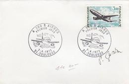 FRANCE- ENVELOPPE CACHET ROND 1er JOUR A 300 B AIRBUS 7.4.1973 TOULOUSE 31 - SIGNATURE GRAVEUR GANDON/1 - Covers & Documents
