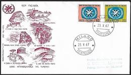 1967 - ITALIA - FDC + Y&T 985/986 + MILANO - 1946-.. République