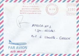"Cote D'Ivoire Ivory Coast 1997 Abidjan 21 Post Office Meter Secap ""NE"" 93897 Slogan EMA Cover - Ivoorkust (1960-...)"