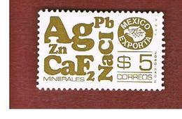 MESSICO (MEXICO) -  SG 1359e   - 1978  MEXICAN EXPORTS: MINERALS              -  USED° - Messico