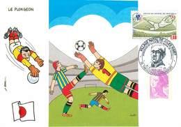 Illustrateur Busillet - Enghien Les Bains - Sports - Football - Coupe Du Monde 1998 - Japon - Autographe - Signature - Illustrateurs & Photographes