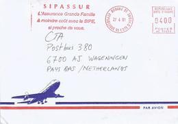 "Cote D'Ivoire Ivory Coast 2001 Bouake 01 Post Office Meter Secap ""NE"" 93899 Insurance Slogan EMA Cover - Ivoorkust (1960-...)"