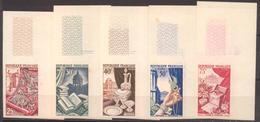 Série Métiers D'art YT 970 à 974 De 1954 Sans Trace De Charnière Tous Coin De Feuille Cote 200 € - France