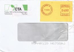 "Cote D'Ivoire Ivory Coast 2000 Bouake 01 Post Office Meter Secap ""NE"" 93899 EMA Cover - Ivoorkust (1960-...)"