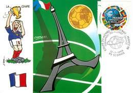 Illustrateur Chabert - Enghien Les Bains - Sports - Football - Coupe Du Monde 1998 - France - Autographe - Signature - Illustratoren & Fotografen