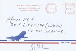 "Cote D'Ivoire Ivory Coast 1997 Abidjan 07 Post Office Meter Secap ""NE"" 94336 Slogan EMA Cover - Ivoorkust (1960-...)"