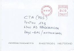 "Cote D'Ivoire Ivory Coast 2002 Abidjan 06 Post Office Meter Secap ""NP"" 35529 EMA Cover. Unrecorded - Ivoorkust (1960-...)"