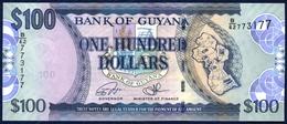 GUYANA 100 DOLLARS P-36c St. George's Cathedral, Georgetown 2016 UNC - Guyana
