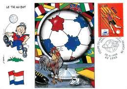 Illustrateur Gauthie - Enghien Les Bains - Sports - Football - Coupe Du Monde 1998 - Paraguay - Dessin Dos - Autographe - Illustratoren & Fotografen