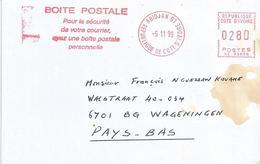 "Cote D'Ivoire Ivory Coast 1999 Abidjan 01 Post Office Meter Secap ""NE"" 93898 Slogan EMA Cover - Ivoorkust (1960-...)"