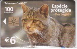 TARJETA DE PORTUGAL DE UN GATO MONTES DE TIRADA 60000 NUEVA-MINT (CAT) - Portugal