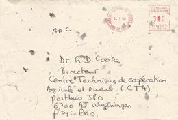 "Cote D'Ivoire Ivory Coast 2000 Abidjan 01 Meter Secap ""NE""  83294 European Commission Delegation EMA Cover - Ivoorkust (1960-...)"