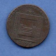 Irlande -  1/2 Penny  1794  --  état  B - Iraq