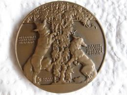 Medaille Le Renard Et Les Raisins, Fables De La Fontaine Par Jean Vernon - France
