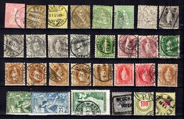 Suisse Belle Petite Collection D'anciens Oblitérés 1854/1930. Bonnes Valeurs. B/TB. A Saisir! - Suisse