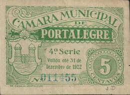 CÉDULA DE 5 CENTAVOS 31 DE DEZEMBRO DE 1922-4ª. SÉRIE Nº.011455 - Portugal