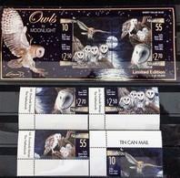 Niuafo'ou 2001** Mi.382-85 + Bl.31 (Owls) [19;160] - Owls