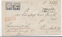 Kaiserreich XX002 / Ober-Glogau, Einschreiben Mit Kleinem Brustschild 2 Gr. (2 X). Gute Prägung/Zentrierung - Deutschland