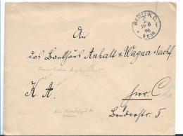 Kaiserreich XX006 / 1896, Portofrei (Kaiserliche Angelegenheit).Dienstsiegel Der Kaiserin Rückseitigeingepresst. - Allemagne