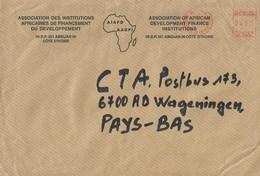 "Cote D'Ivoire Ivory Coast 2000 Abidjan 01 Meter Secap ""NE"" 94234 EMA Cover - Ivoorkust (1960-...)"