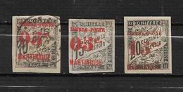 Colonie Martinique Timbres De 1891/92  N°23 A 25 Neufs *  ( N°23 Oblitéré ) Cote 98€ - Martinica (1886-1947)