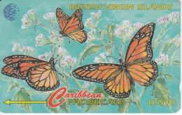 TARJETA DE VIRGIN ISLANDS DEL UNAS MARIPOSAS - BUTTERFLY  (67CBVB) - Islas Virgenes