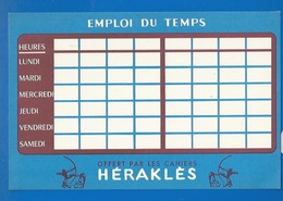 BUVARD - PAPETERIE - HERAKLES - EMPLOI DU TEMPS - Stationeries (flat Articles)