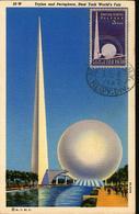 38073 U.s.a. Maximum 1946, New York World Fair 1939,trylon And Perisphere Of Fair - Maximumkarten (MC)