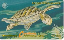 TARJETA DE BRITISH VIRGIN ISLANDS DE UNA TORTUGA (TURTLE)  23CBVD - Isole Vergini