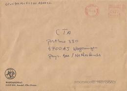 """Cote D'Ivoire Ivory Coast 2002 Bouake 01 Meter Secap """"NE"""" 89313 Rice Institute EMA Cover - Ivoorkust (1960-...)"""