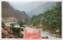 38074 U.s.a. Maximum 1947 The Canon Ot The Feather River, Mountain - Maximumkarten (MC)