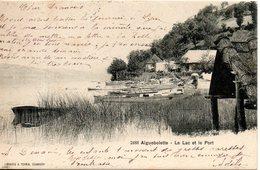 73. Aiguebelette. Le Lac Et Le Port - Autres Communes