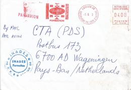 "Cote D'Ivoire Ivory Coast 2003 Abidjan 08 Meter Secap ""NE"" 94235 INADES Slogan EMA Cover - Ivoorkust (1960-...)"