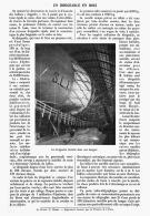 UN DIRIGEABLE EN BOIS  ( SCHULTLE )  1912 - Transports