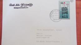 """DDR: Ds-Brief Mit ABC-Marke In Selt. Verwendg Im Ausschlußgebiet """"BÜSINGEN AM OBERRHEIN"""" So-Tarif 31.1.91 Knr: 3353 - [7] Federal Republic"""